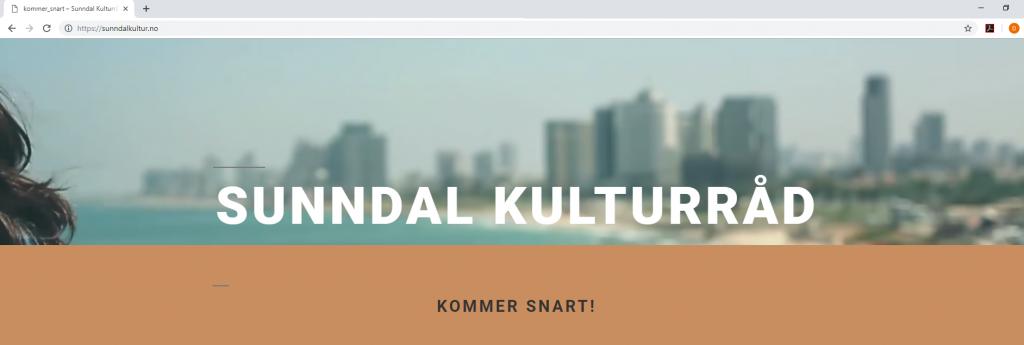 skjermbilde av www.sunndalkultur.no